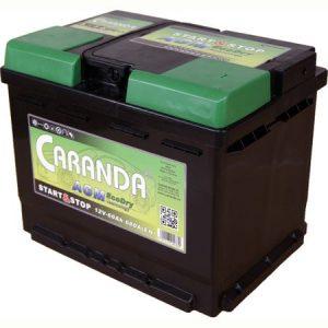 Baterie auto 12V 60Ah CARANDA START STOP AGM
